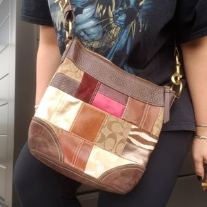 coach patchwork crpssbody bag